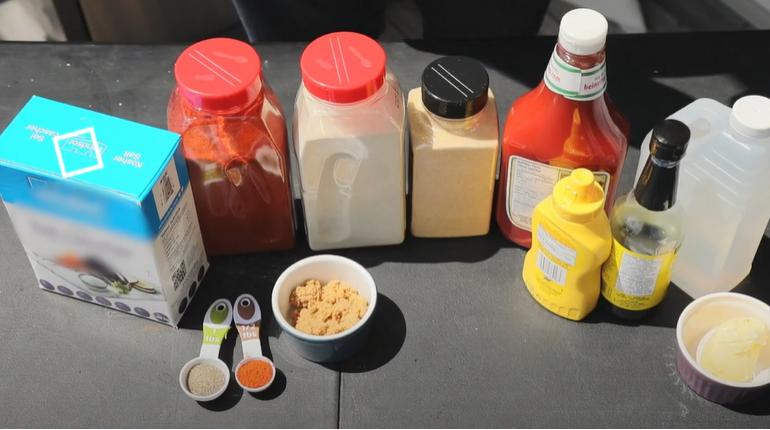 Brining Chicken - BBQ Sauce Ingredients