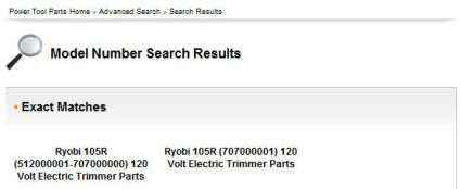 Model 105r Search Results