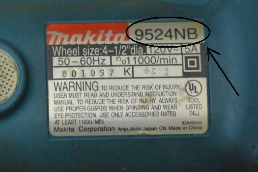 Makita Name Plate