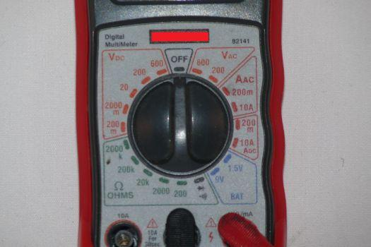 Parts of multimeter and their functions