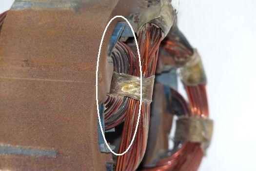 Motor Wiring Heat Damage