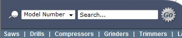 Model Number Search Bar