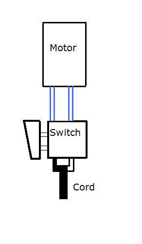 wiring a 2 terminal power tool switch ereplacementparts com 4 terminal switch diagram