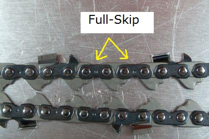 Full-Skip Chainsaw Chain