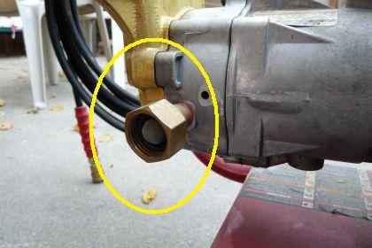 Pressure Washer Inlet