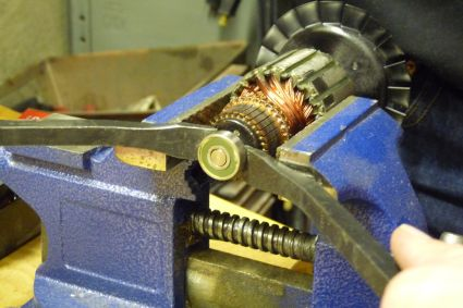Prying Bearing Off Armature