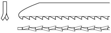 Milled Side Set Jigsaw Blade