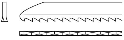 Milled Wavy Jigsaw Blade