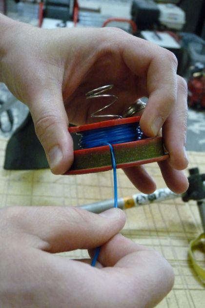 Trimmer Spool Retaining Notch
