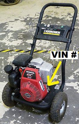 Honda Engine VIN Number Location