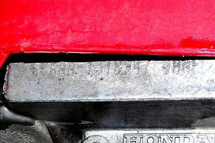 Honda VIN Number (bright)