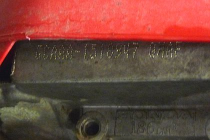 Reading Honda Small Engine VIN Numbers