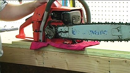 How to replace a chainsaw chain 9 steps side plate removed a chainsaws brake is sometimes attached to the guide greentooth