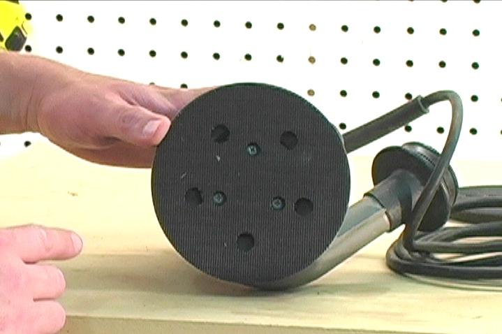Backer Pad Vacuum Holes