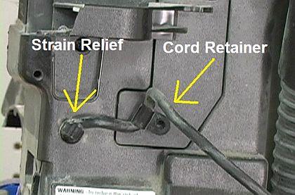 Power Cord Retaining Pieces