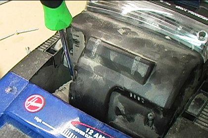 Remove Vacuum Motor Housing Screws