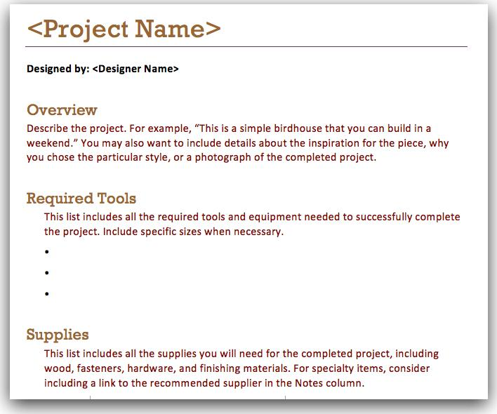 Project Overview Template Create A Project Report Project