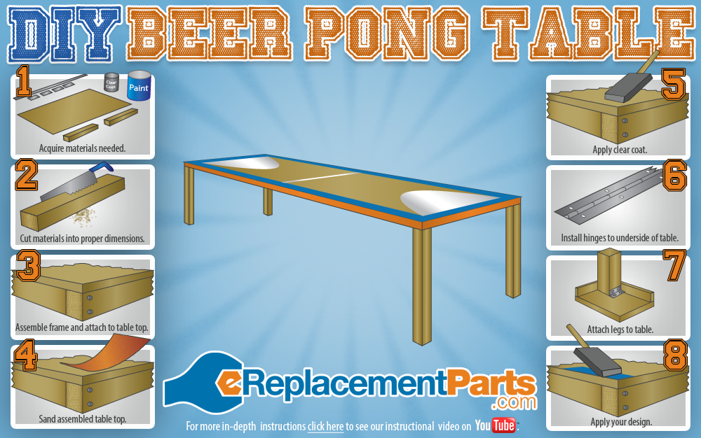 Make Your Own Beer Pong Table Ereplacementparts Com Diy