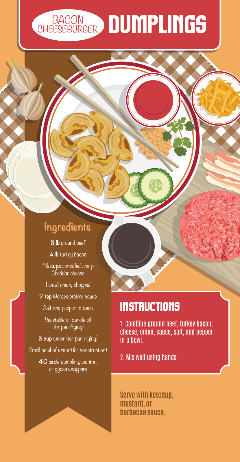 Bacon Cheeseburger Dumplings - Making Your Own Dumplings