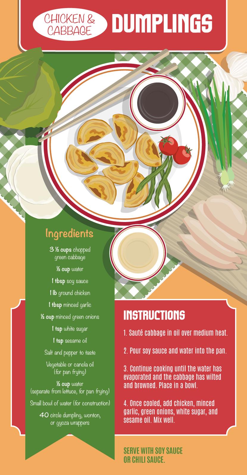 Chicken Cabbage Dumplings - Making Your Own Dumplings