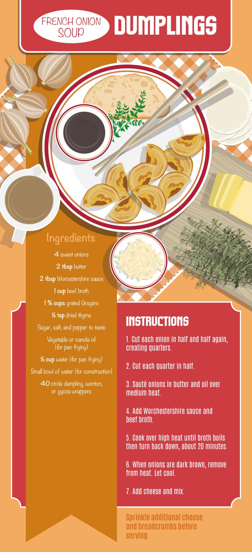 French Onion Soup Dumplings - Making Your Own Dumplings