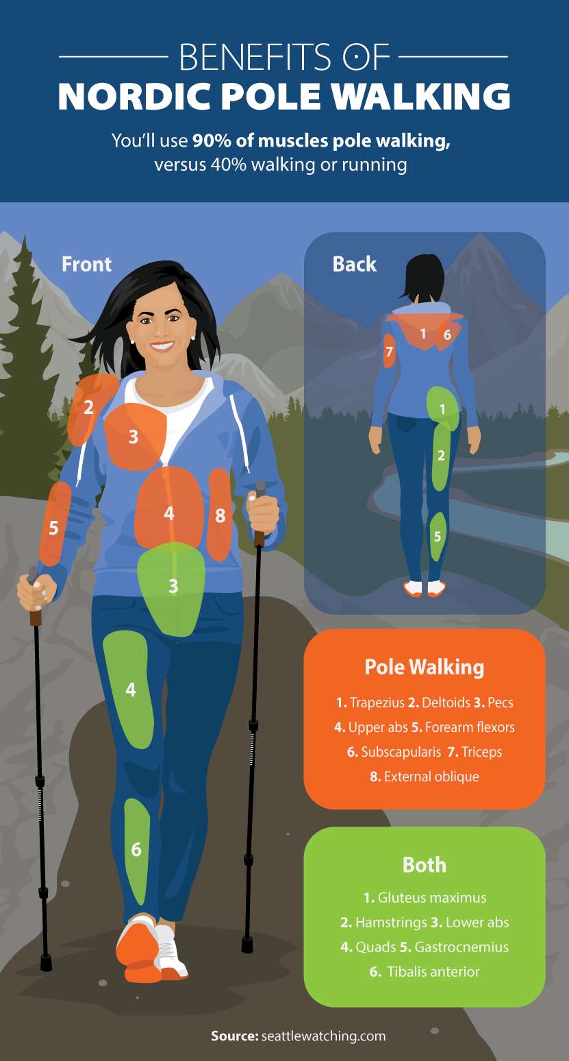 Benefits of Nordic Pole Walking - Beginner's Guide to Nordic Pole Walking