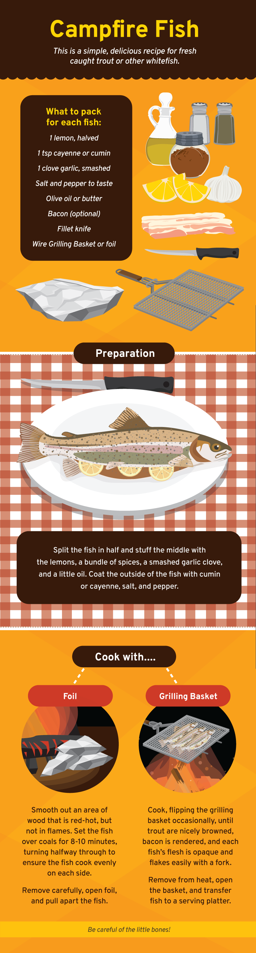 Campfire Fish - Cooking on a Campfire