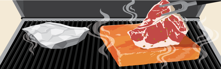 Grilling on a Himalayan Salt Block