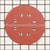 "25-Pack Hook and Loop 120-Grit 5"" 8 Vac. Sandpaper Discs"