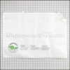 Black and Decker Disposable Bag part number: 90593540