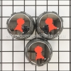 Weber Set Of Control Knobs part number: 69893