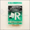 Hoover Type R-30 Filter Bag-5 Pack + 2 Filters part number: H-40101002